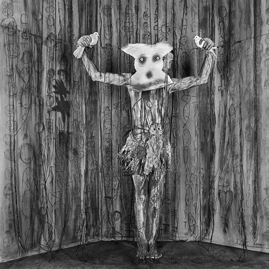 Alter Ego from the Asylum series by Roger Ballen at Robert Brown Gallery