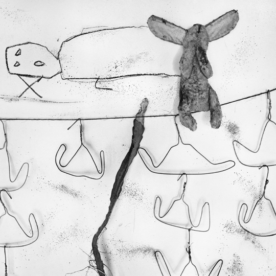 Washing Line from the Boarding House series by Roger Ballen at Robert Brown Gallery