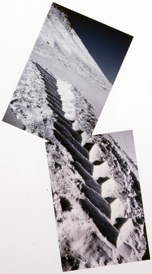 Soft Snow, Hand Packed, Grise Fjord, Ellesmere Island, 11, 12 April 1989 by Andy Goldsworthy at Robert Brown Gallery