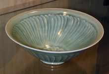 Yaozhou Petal Whorl Tea Bowl by Additional Inventory at Robert Brown Gallery