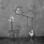 Spinning by Roger Ballen at Robert Brown Gallery