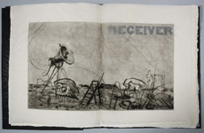 Frontispiece of Receiver by William Kentridge at Robert Brown Gallery