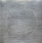 Untitled (Silver) by Linn Meyers at Robert Brown Gallery